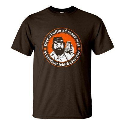 Csoki barna férfi póló - Bud Spencer Puffin lekvárral a Kincs ami nincs filmből