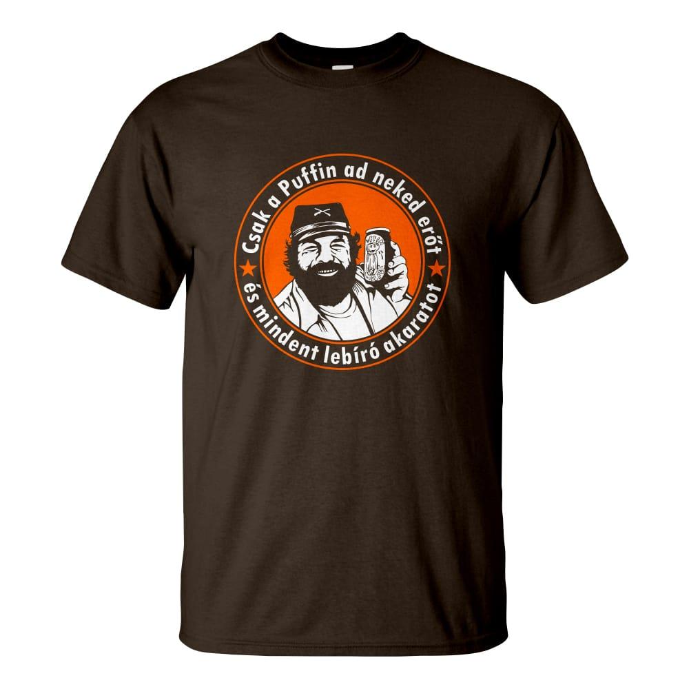 Csoki barna férfi póló - Bud Spencer Puffin lekvárral a Kincs ami nincs  filmből 14c122cea5