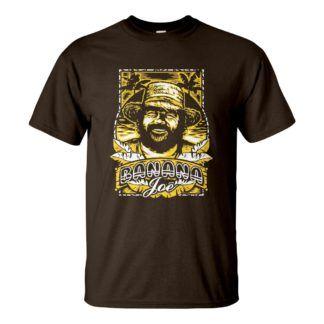 Férfi Bud Spencer póló csoki barna színben - Banana Joe / Banános Joe póló