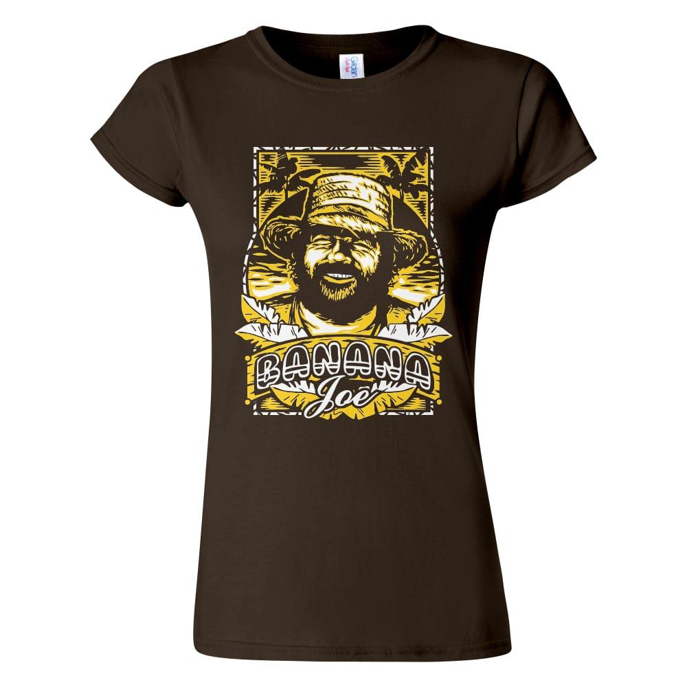 Női Bud Spencer póló csoki színben - Banana Joe / Banános Joe póló