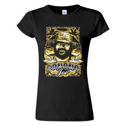 Női Bud Spencer póló fekete színben - Banana Joe / Banános Joe póló