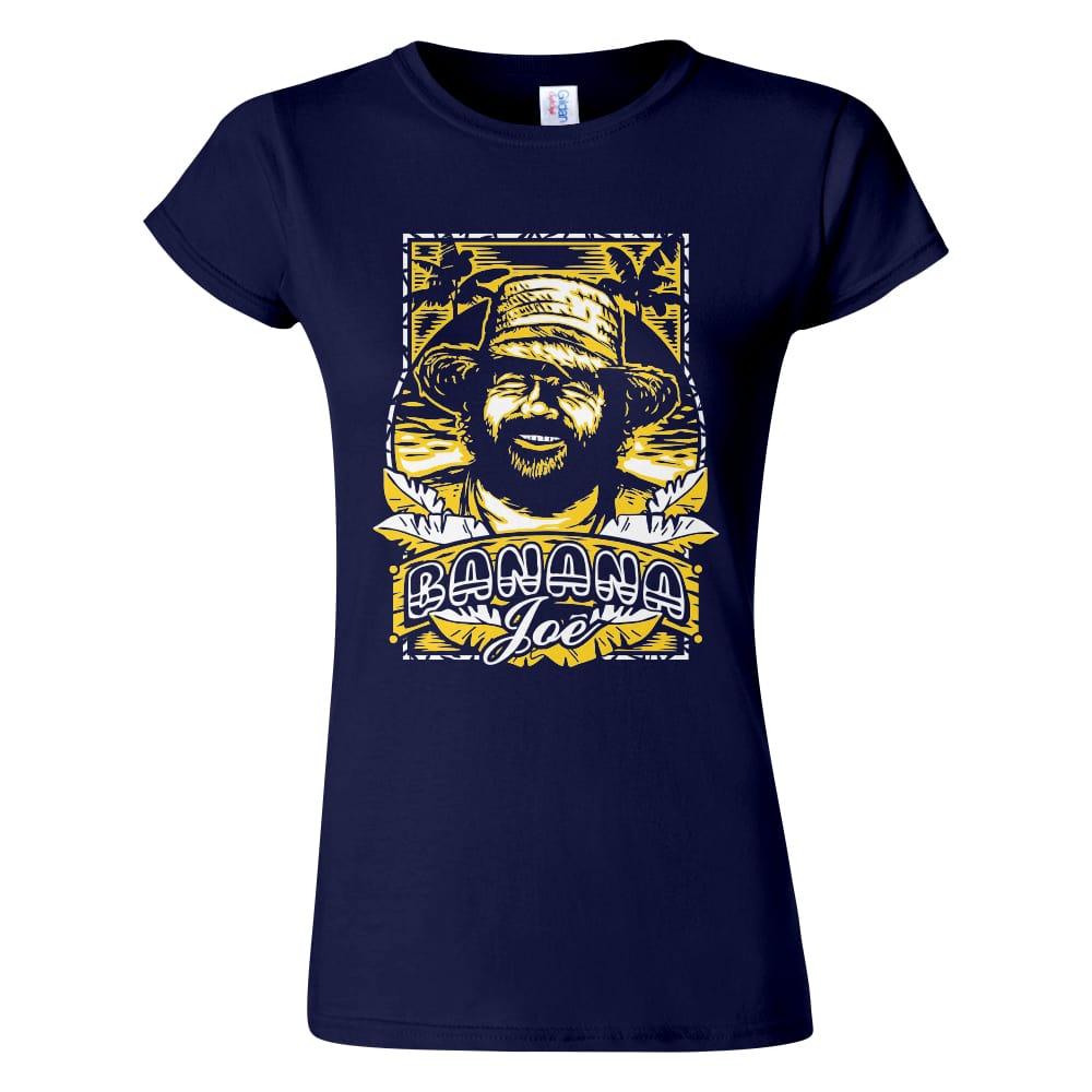 Női Bud Spencer póló navy színben - Banana Joe / Banános Joe póló