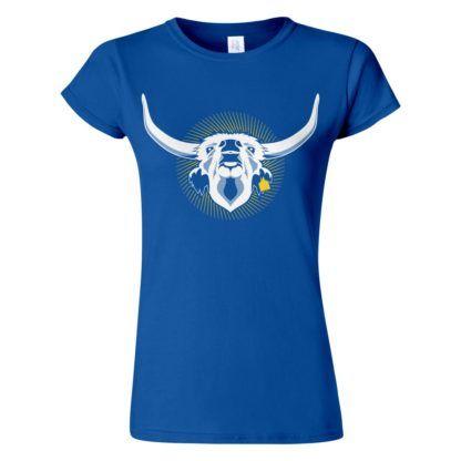 Női Szürkemarha póló kék színben - Az igazi hungarikum