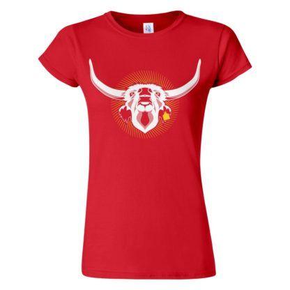 Női Szürkemarha póló piros színben - Az igazi hungarikum