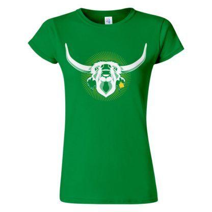 Női Szürkemarha póló zöld színben - Az igazi hungarikum