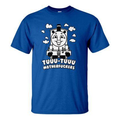 Férfi Thomas póló kék színben - Thomas a gőzmozdony nagyoknak: Tuuu-tuuu motherfuckers