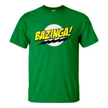 Férfi Bazinga póló zöld színben - Agymenők póló - The Big Bang Theory