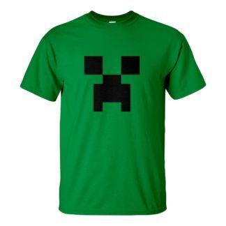 Férfi Creeper póló zöld színben - a Minecraft öngyilkos merénylője
