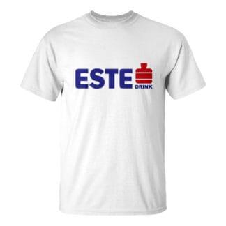 Férfi ESTE DRINK póló fehér színben - Ma este a bank fizet