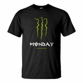 Férfi monster monday póló fekete színben - Low energy hétfőn