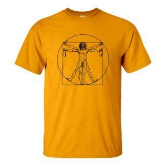 Férfi Nagy Lebowski póló sárga színben - Da Vinci VITRUVIUS póló
