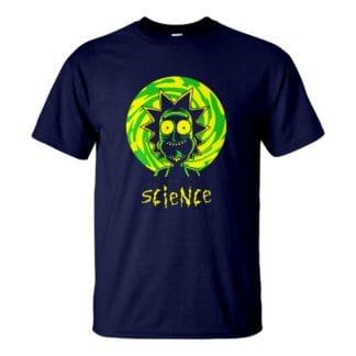 Férfi Rick and Morty póló navy színben - Science / Rick és Morty polo