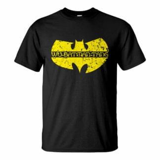 Férfi Wu-Tang Batman póló fekete színben - A denevérember klán