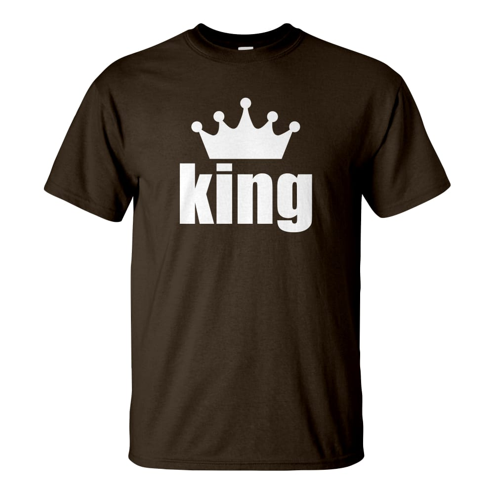 Férfi King póló csoki barna színben - Páros pólók - Na ki a király    5a4e20da1e