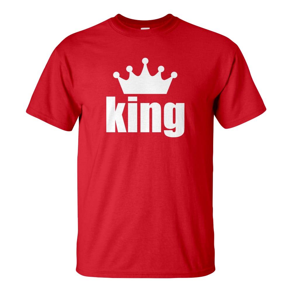 Férfi King póló piros színben - Páros pólók - Na ki a király    Who s 7d9728ac4a