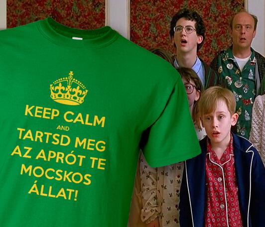 Karácsonyi ajándék ötlet a pólóműhelytől - Keep Calm és tartsd meg az aprót te mocskos állat